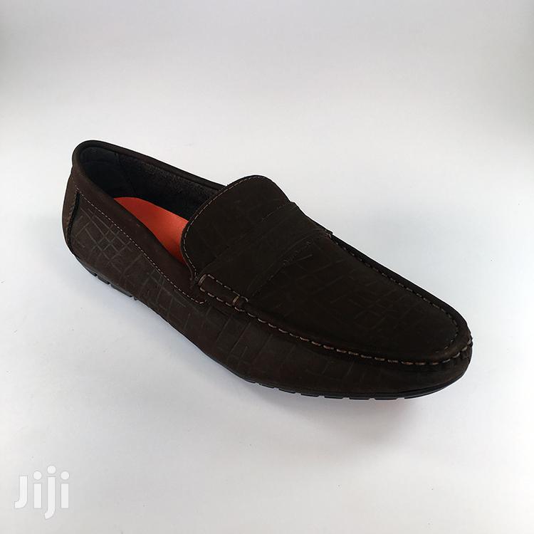 Original Clarks Tobacco Brown Suede Loafers Shoe