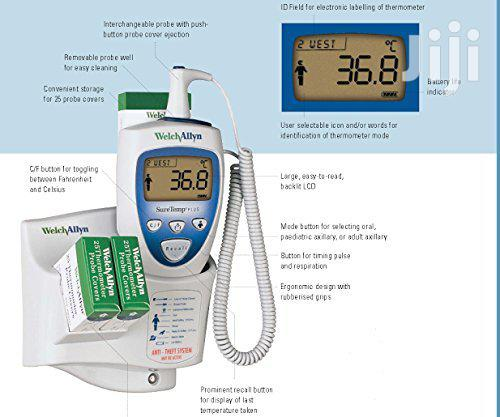 Welch Allyn Suretemp Plus Electronic Thermometer, Wall Mount,