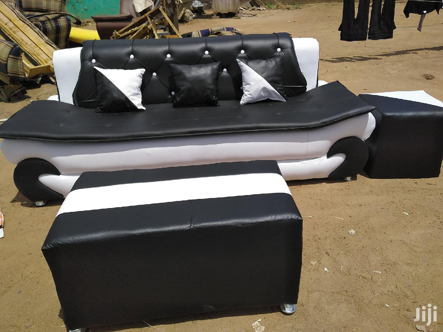 Emmanuel Leather Sofa   Furniture for sale in Agbogbloshie, Greater Accra, Ghana