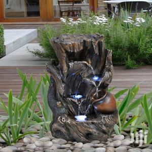 Indoor Outdoor Polyresin Water Fountain LED Lights