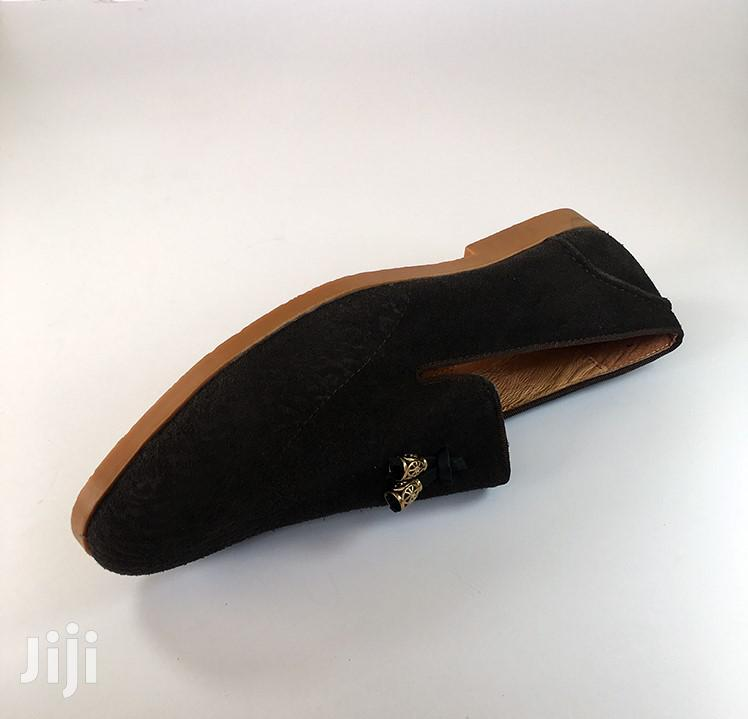 Archive: Original Versace Tobacco Brown Leather Suede Shoe