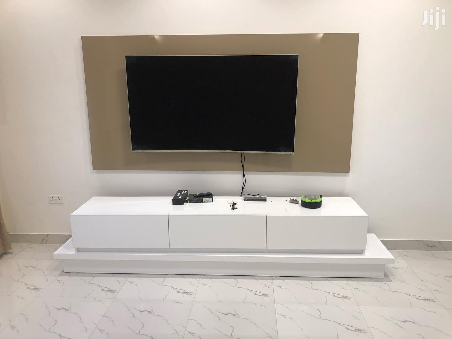 White TV Unit From KSA Furniture | Furniture for sale in Kwashieman, Greater Accra, Ghana