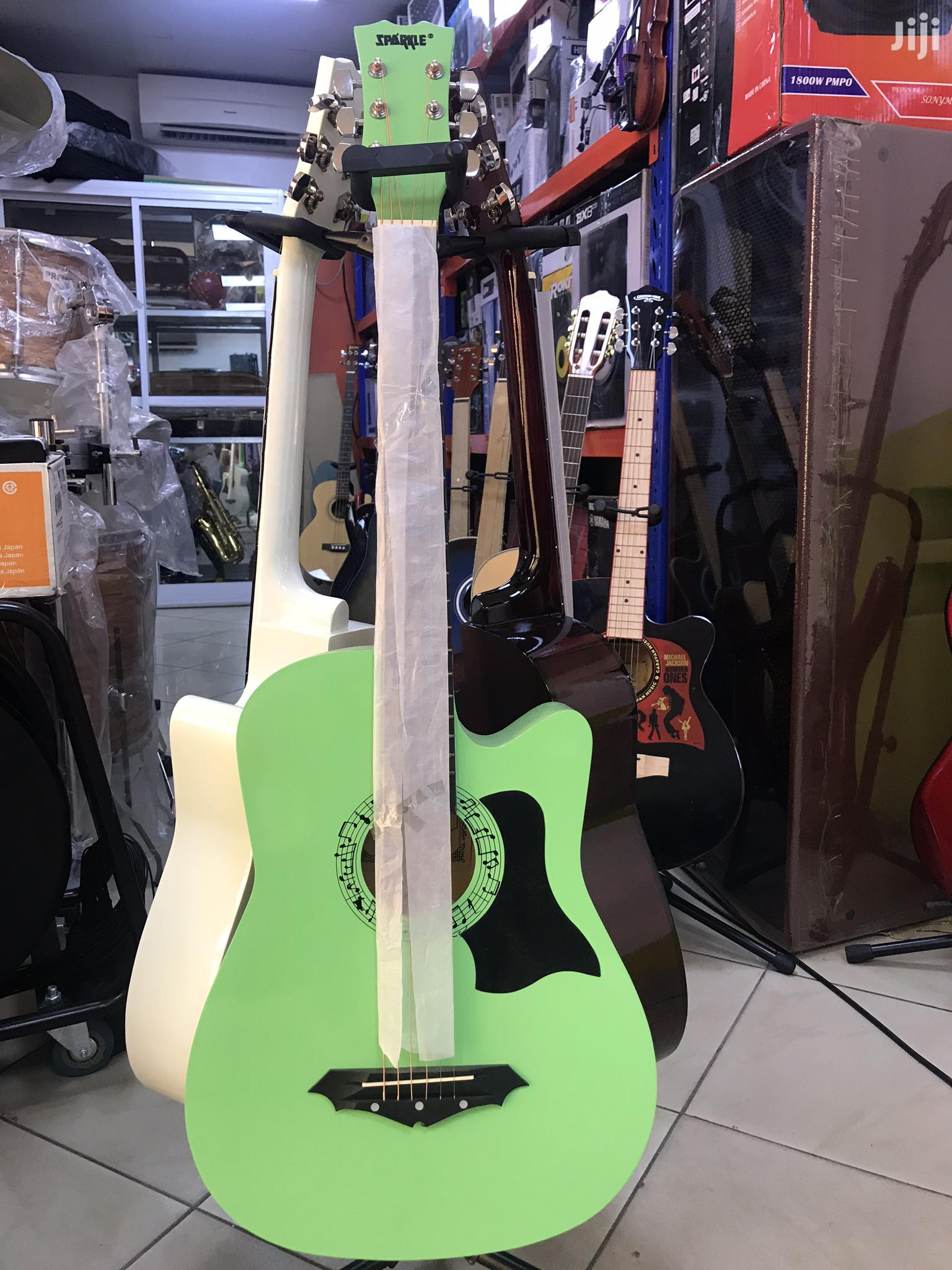 Acoustic Guitars Different Brands Sizes and Colour