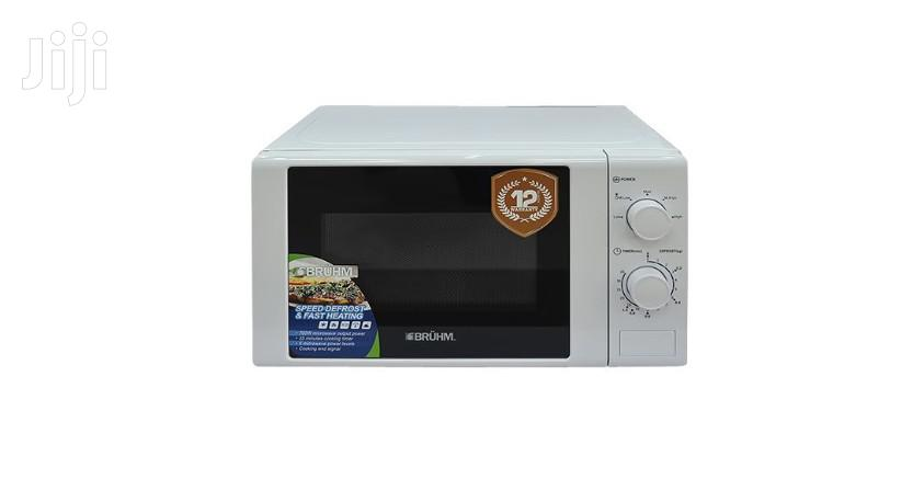Bruhm Microwave Oven Solo White 20 Ltr Bmo-720mm | Kitchen Appliances for sale in Accra Metropolitan, Greater Accra, Ghana