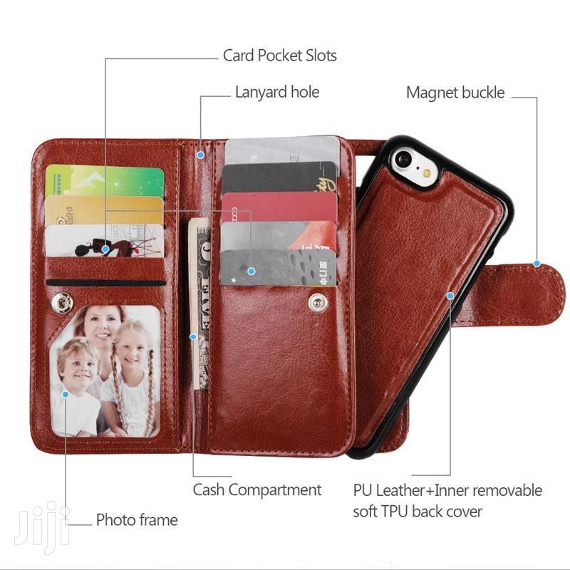 2 in 1 Leather Flip Detachable Case for iPhone Xsmax Xr Xs X 8plus 8 7