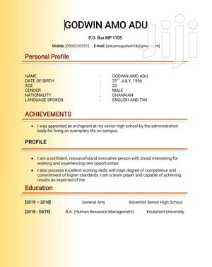 Office CV | Office CVs for sale in Brong Ahafo, Techiman Municipal