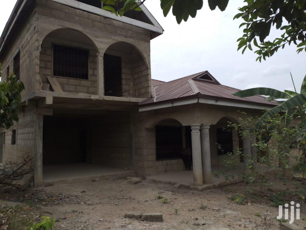 6 Bedrooms Uncompleted House At Aputuogye Abuotem