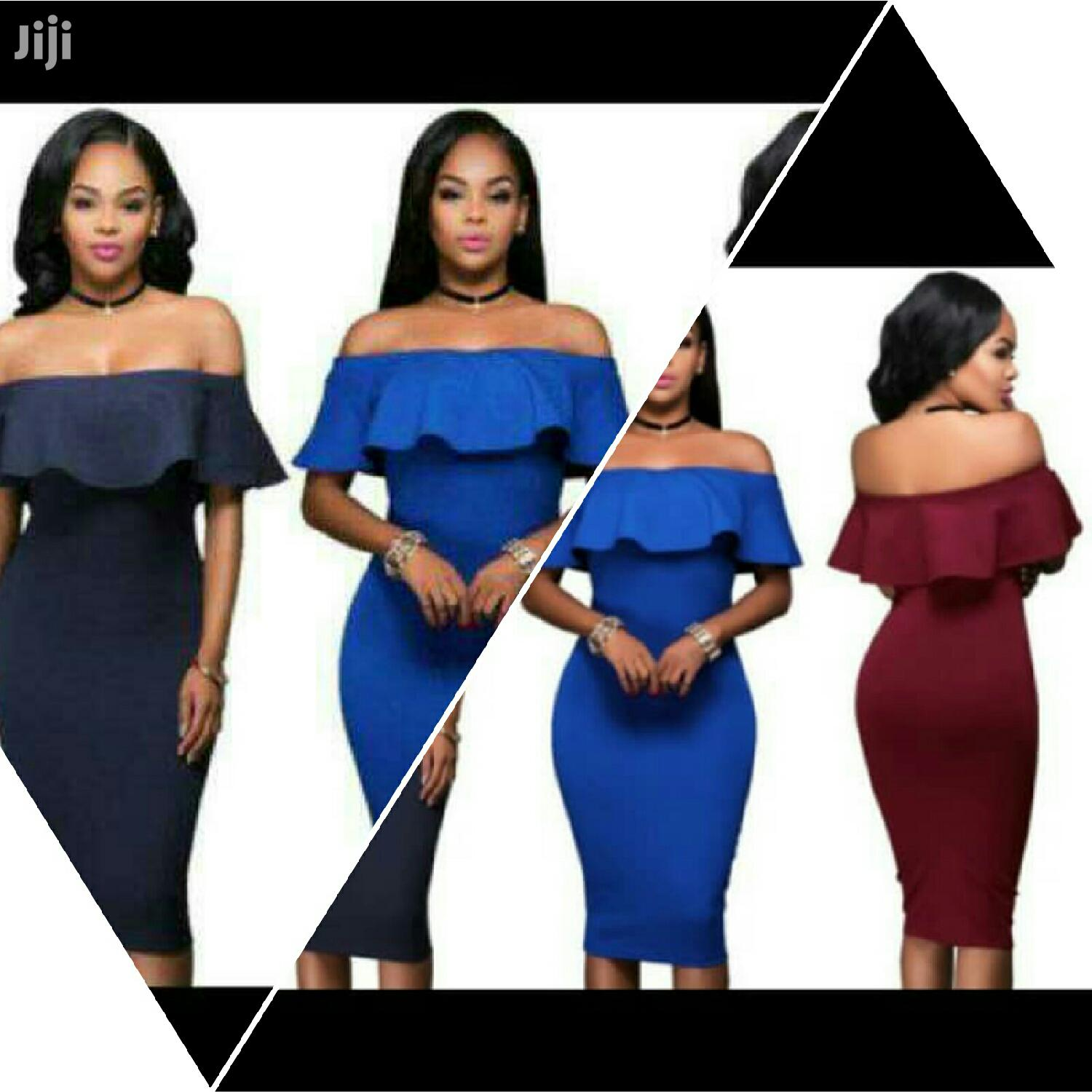 Ladies Off Shoulder Dress | Clothing for sale in Kwashieman, Greater Accra, Ghana