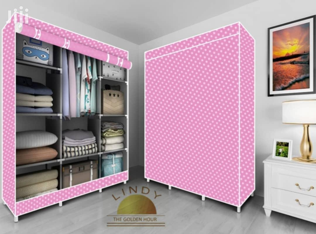 Archive: 3 In 1 Fabric Wardrobe Pink