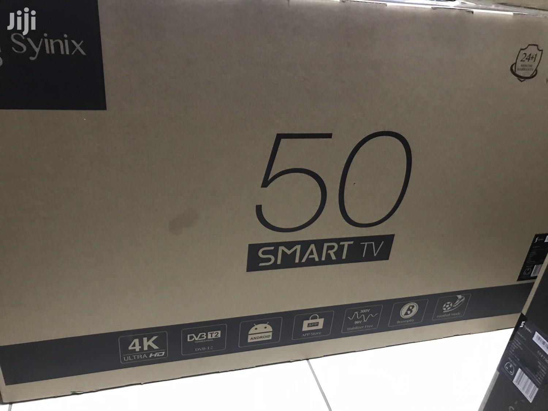 "Syinix 50""Inches Smart 4K Satellite Digital"