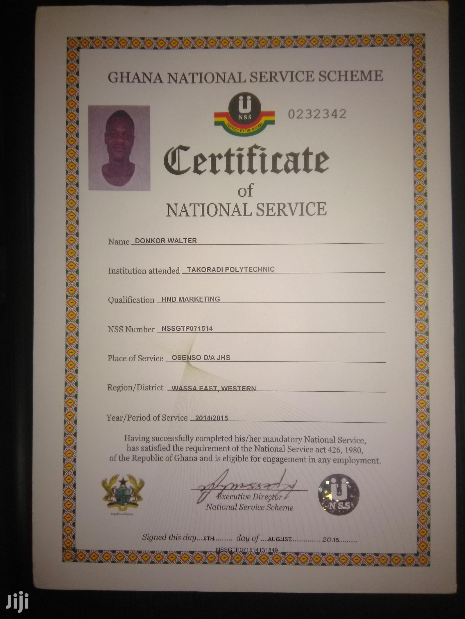 Driver CV   Driver CVs for sale in Shama Ahanta East Metropolitan, Western Region, Ghana