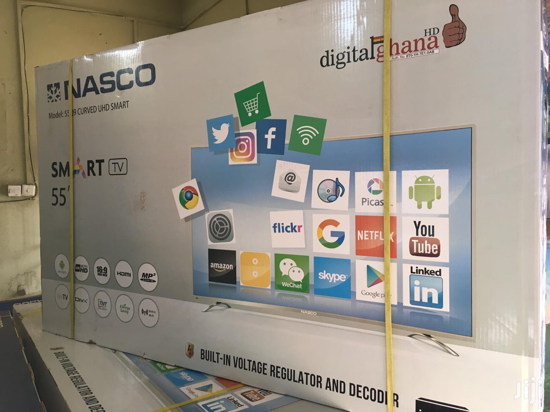 """Nasco 55"""" Smart Satellite Uhd 4k Led Tv"""
