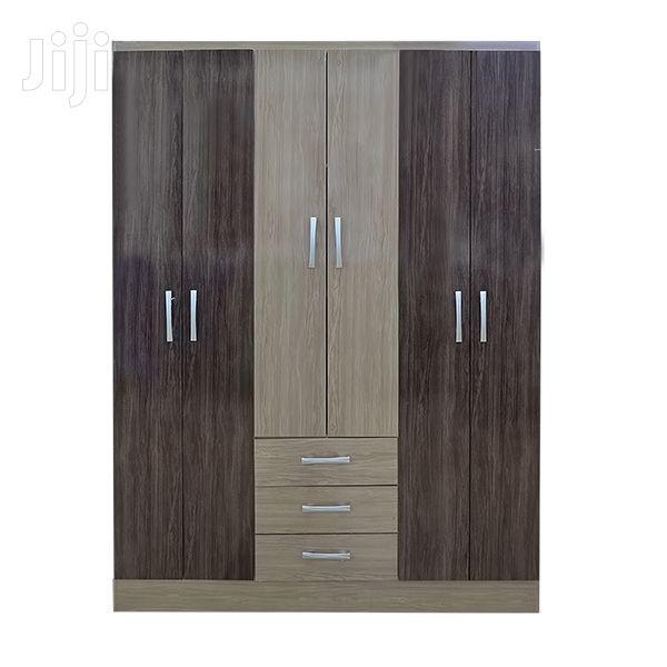 6-Door Wooden Wardrobe 3 Drawers