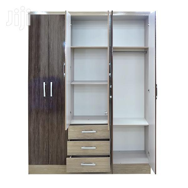 6-Door Wooden Wardrobe 3 Drawers | Furniture for sale in Adenta Municipal, Greater Accra, Ghana