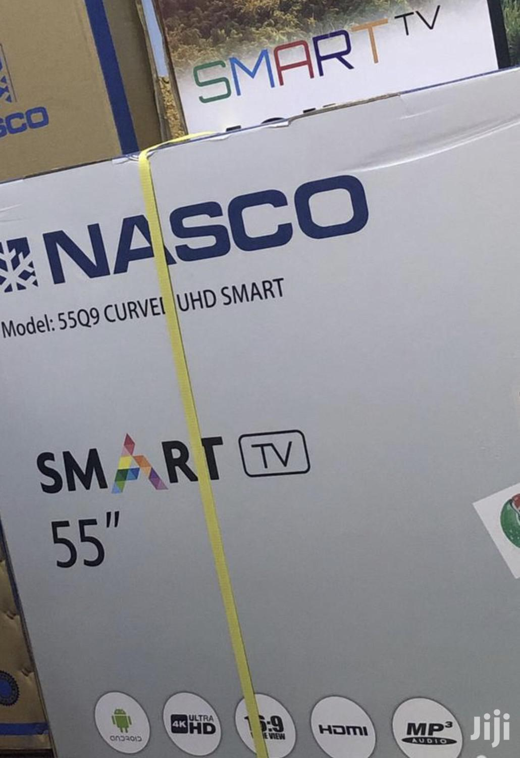"Nasco 55"" Uhd Smart 4K TV Digital Satellite LED TV"