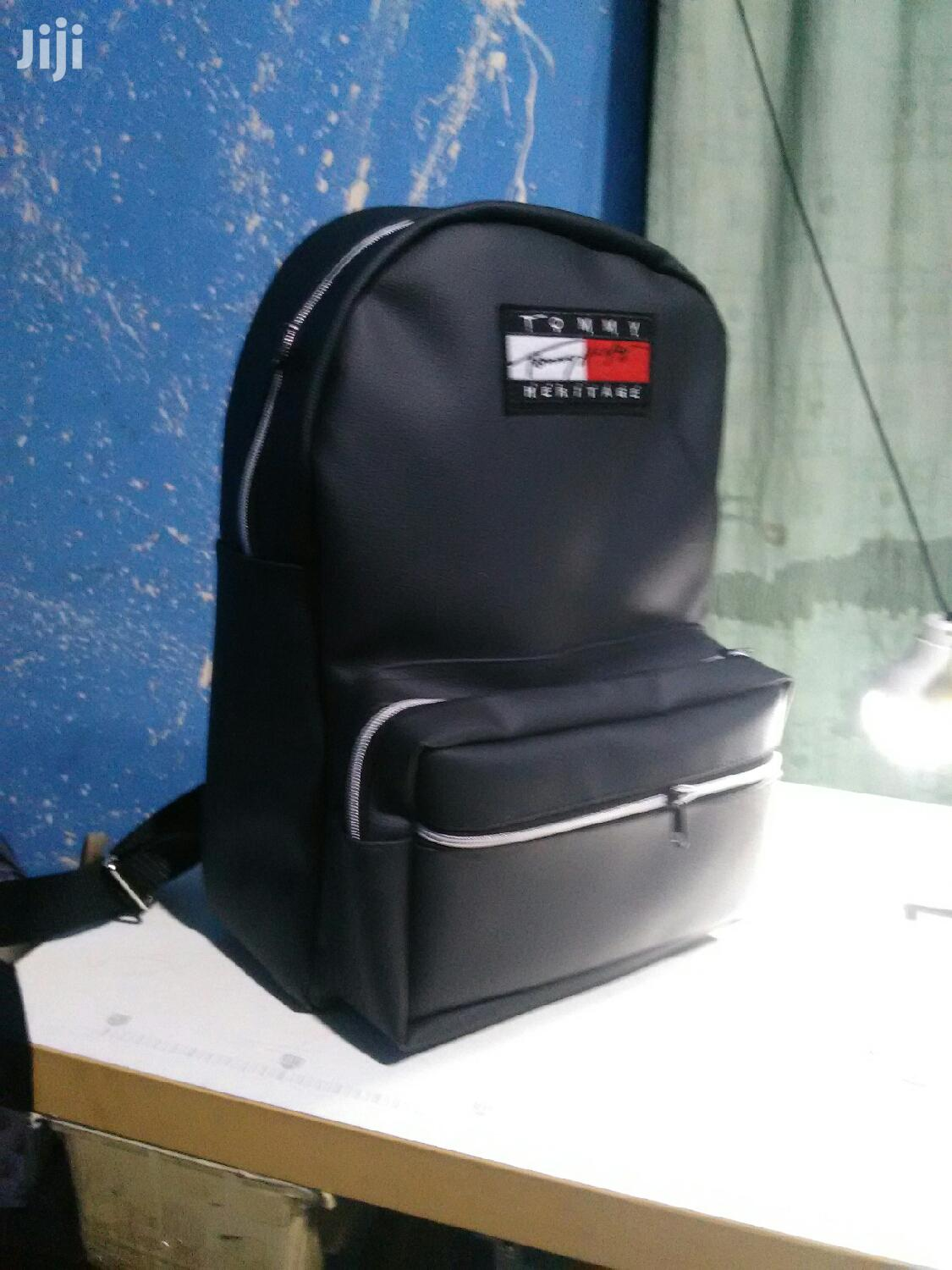 Tommy Black Backpack