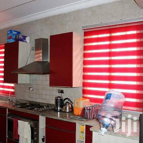 Red Curtains Blinds With Free Installation