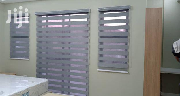 Ash Zebra Curtains Blinds With Free Installation