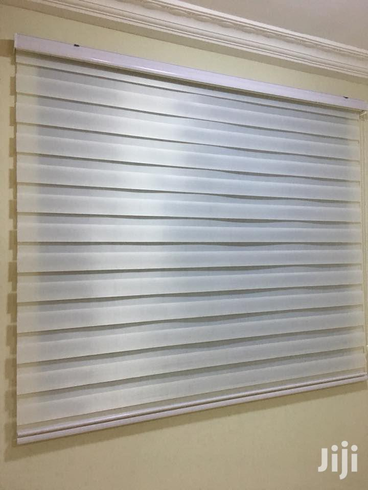 Cloudy White Zebra Curtains Blinds