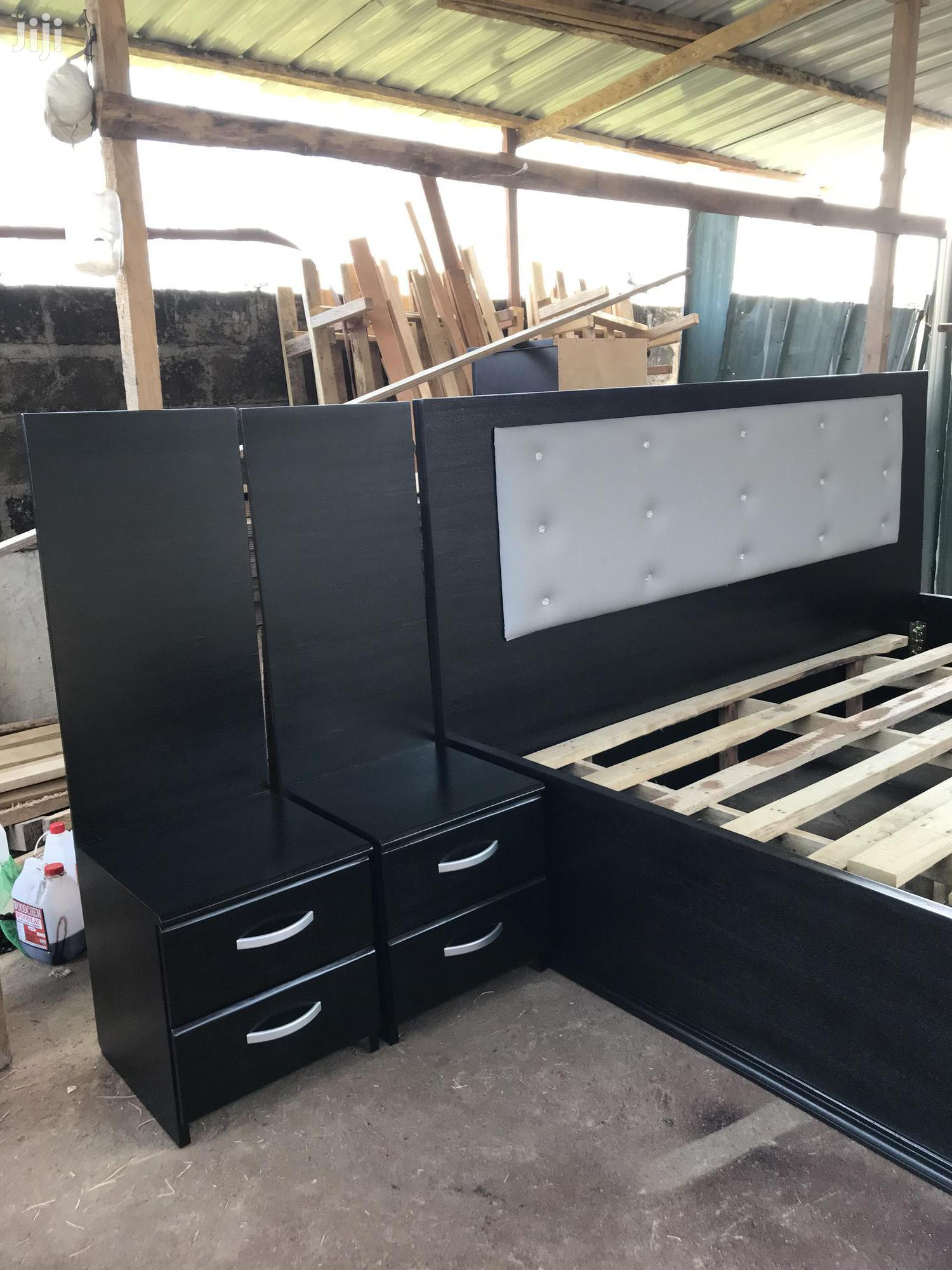 Spray King Size Beds With Tow Side Drawers 85 by 75 Inches | Furniture for sale in Abelemkpe, Greater Accra, Ghana