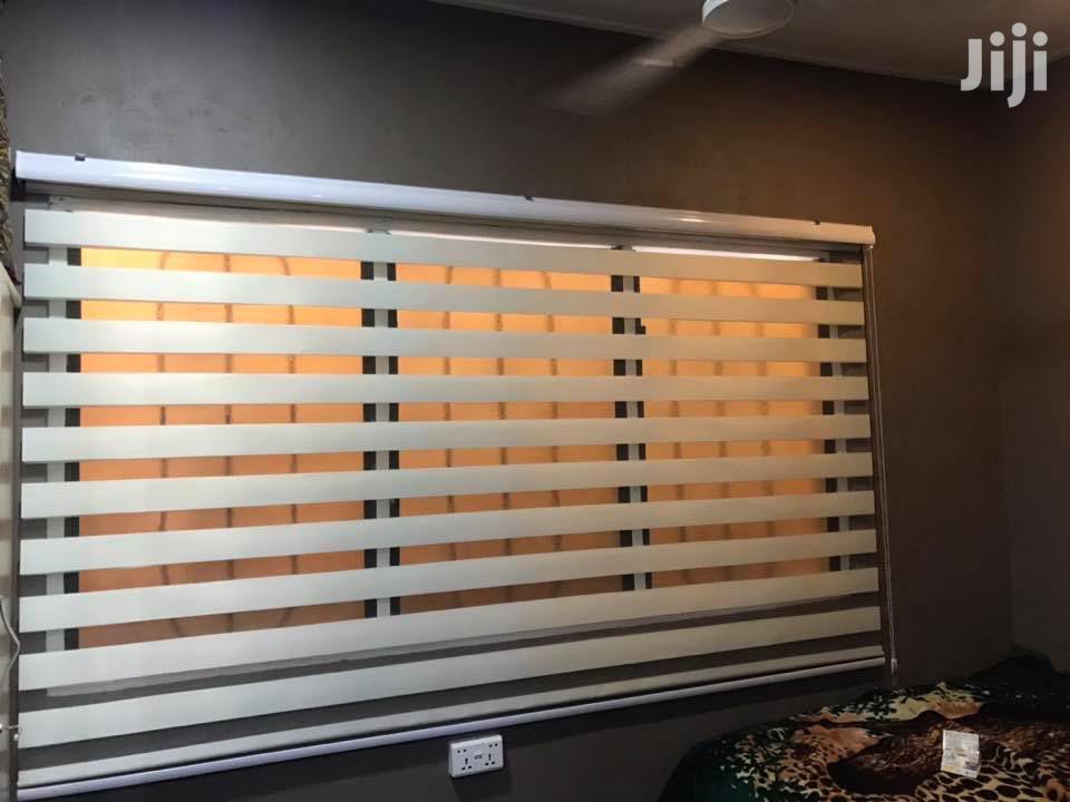 Creamy White Zebra Curtains Blinds