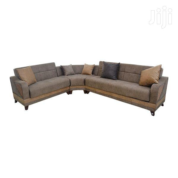 Corner Sofa Set Micro Fabric