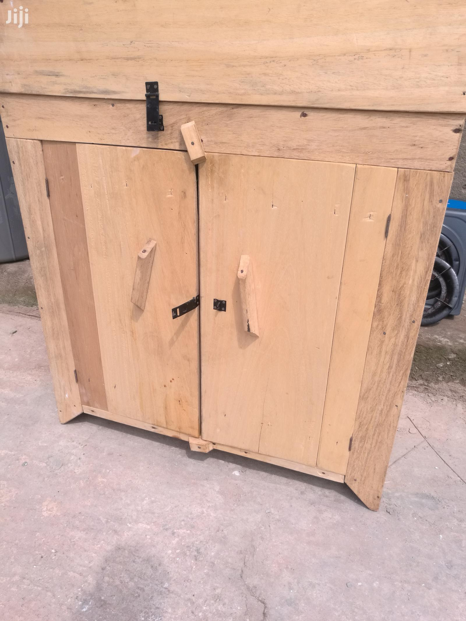 A Very Neat And New Wooden Kitchen Cabinet In Adenta