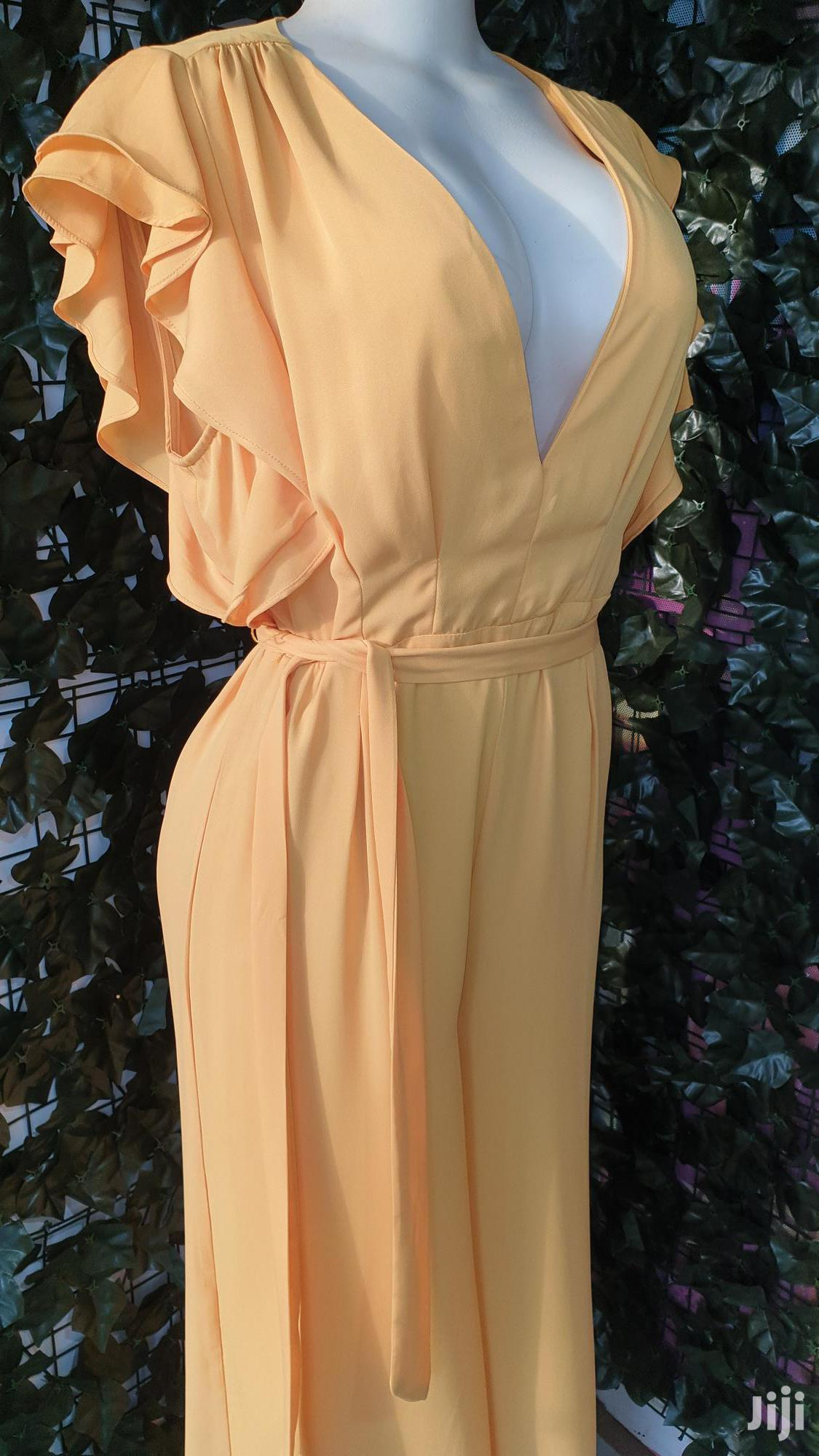 Yellow Vintage Jumpsuit For Slaw