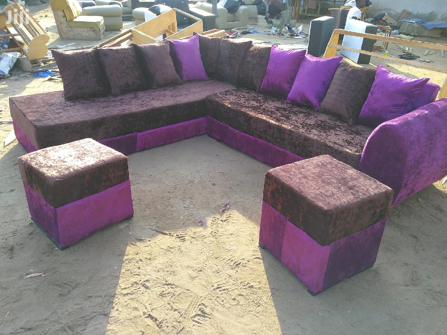 Emmanuel Leather Sofa   Furniture for sale in Achimota, Greater Accra, Ghana