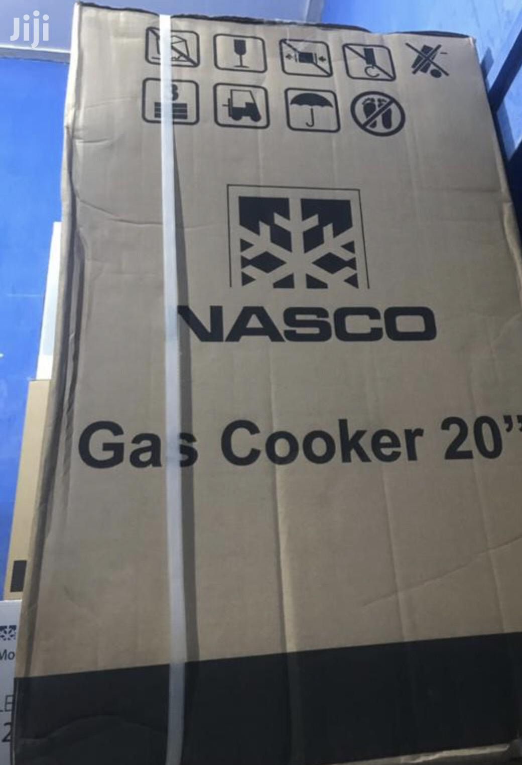 Nasco 4 Burner Gas Cooker With Oven Stainless