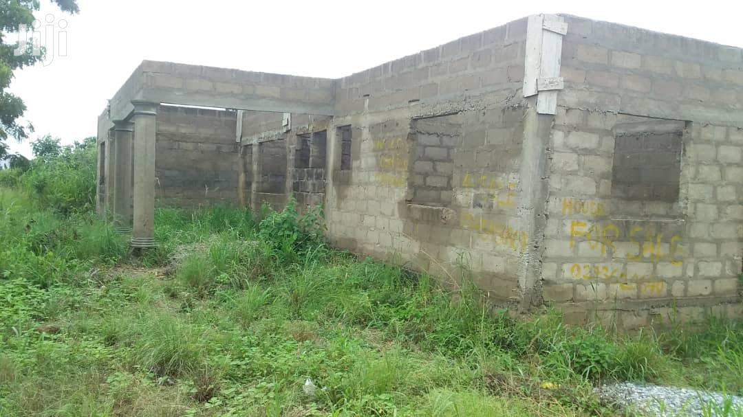 Archive: Uncompleted Three Bedroom House At Ashalaja Amasaman For Sale
