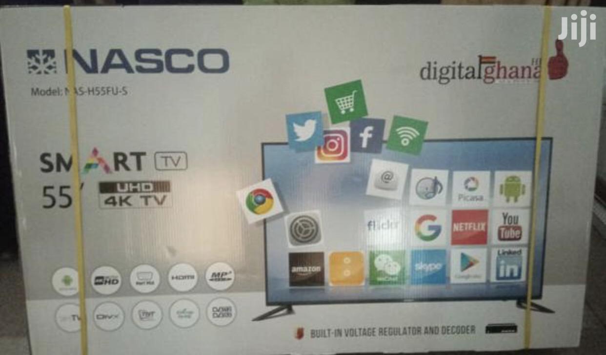 """New Nasco 55"""" Uhd Smart 4K Digital Satellite LED TV"""