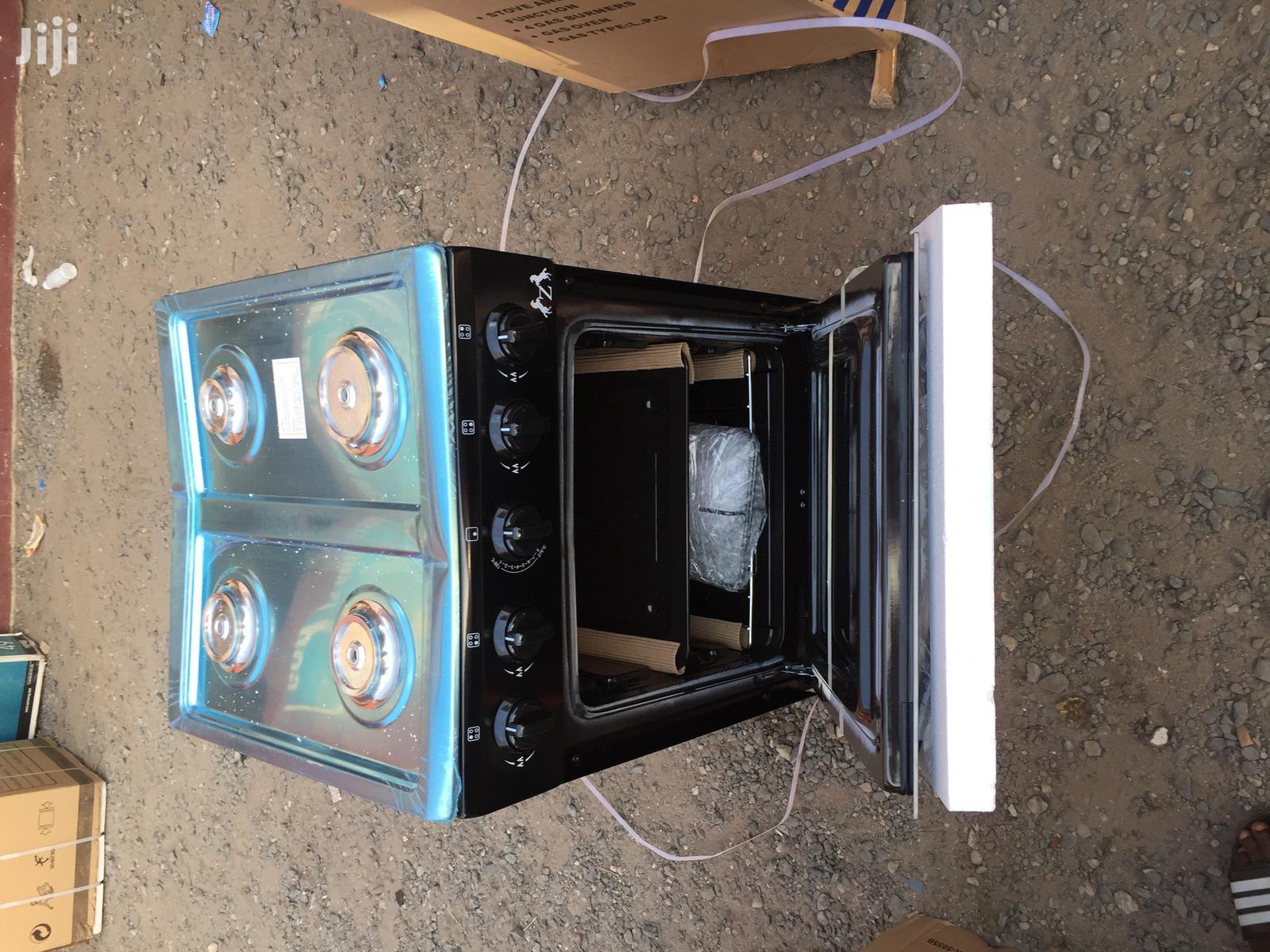 ZARA Gas Cooker 4 Burner Stove Black
