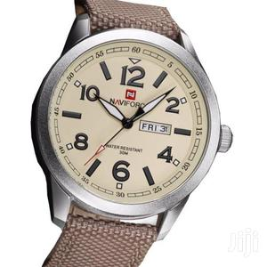 Naviforce Analogue Quartz With Date Mens Leather Watch