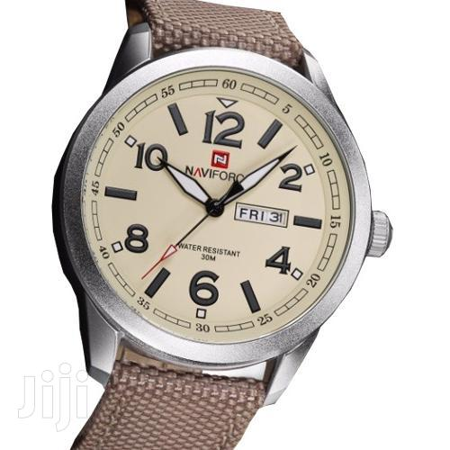 Naviforce Analogue Quartz With Date Mens Leather Watch   Watches for sale in Achimota, Greater Accra, Ghana