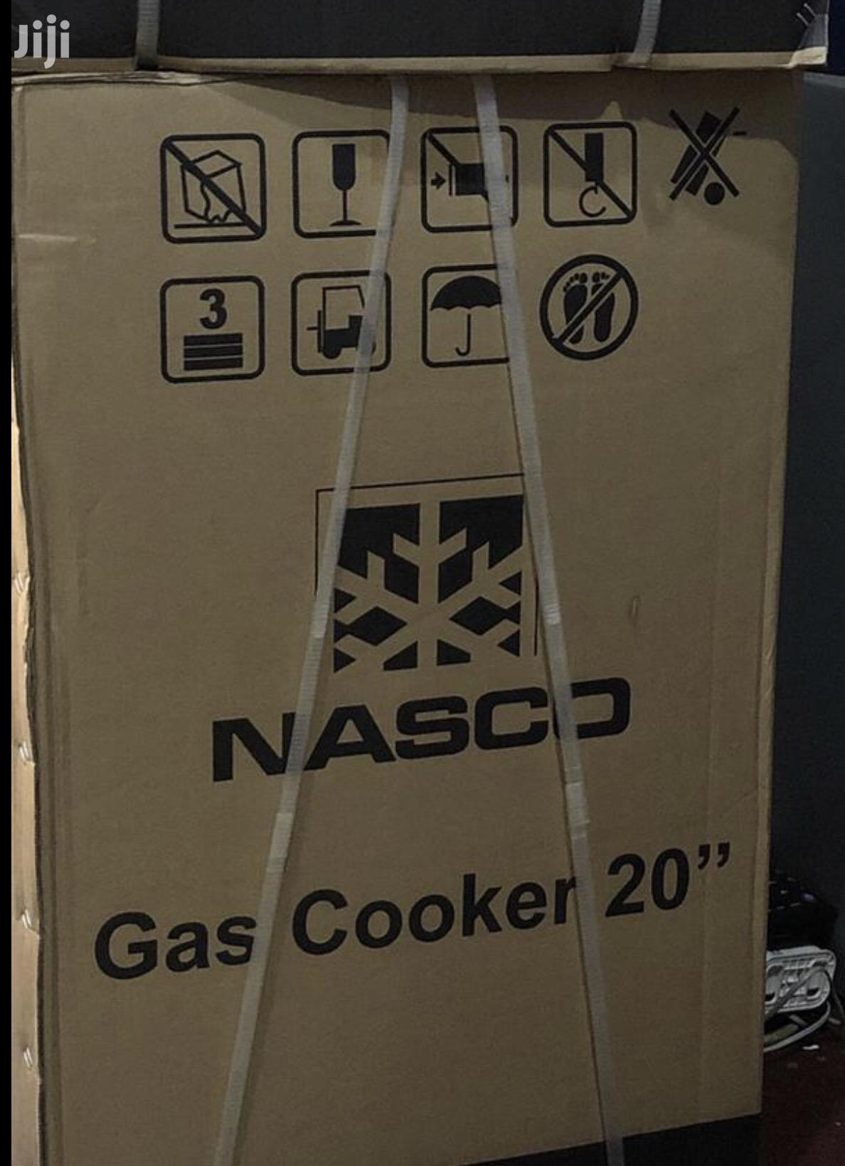 Nasco 4 Burner Gas Cooker With Oven & Grill Black