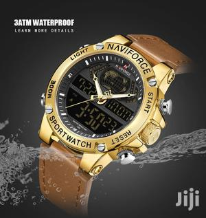 NAVIFORCE Dual Display Mens Leather Analog Digital Watches   Watches for sale in Greater Accra, Achimota