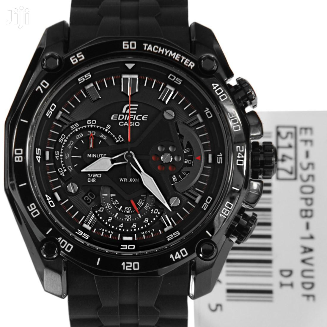 Stainless Black Casio Edifice Mans Watch