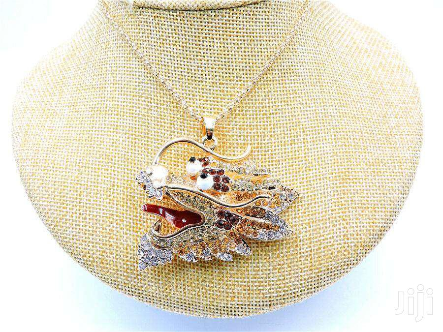 Pretty Crystal Enamel Dragon Head Pendant Necklace | Jewelry for sale in Ga South Municipal, Greater Accra, Ghana