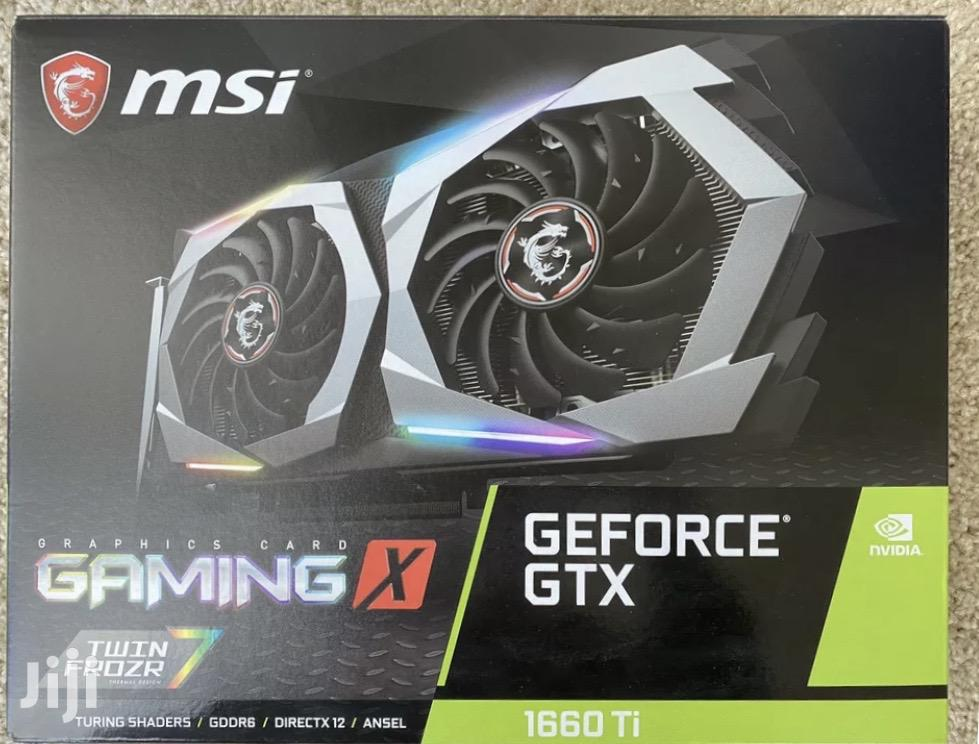 Archive: Msi Gtx 1660ti Gaming X 6GB GDRR6 Graphic Card