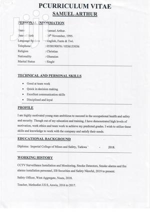 Mining Industry Job | Mining Industry CVs for sale in Western Region, Jomoro