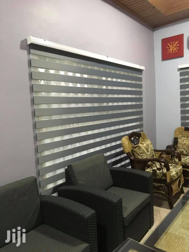 Ash Zebra Blinds for Home With Free Installation