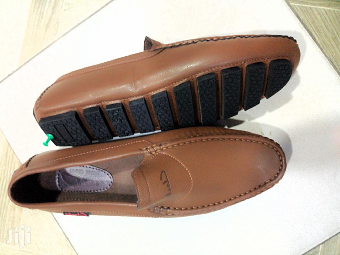 Mens Clarks Brown Loafers