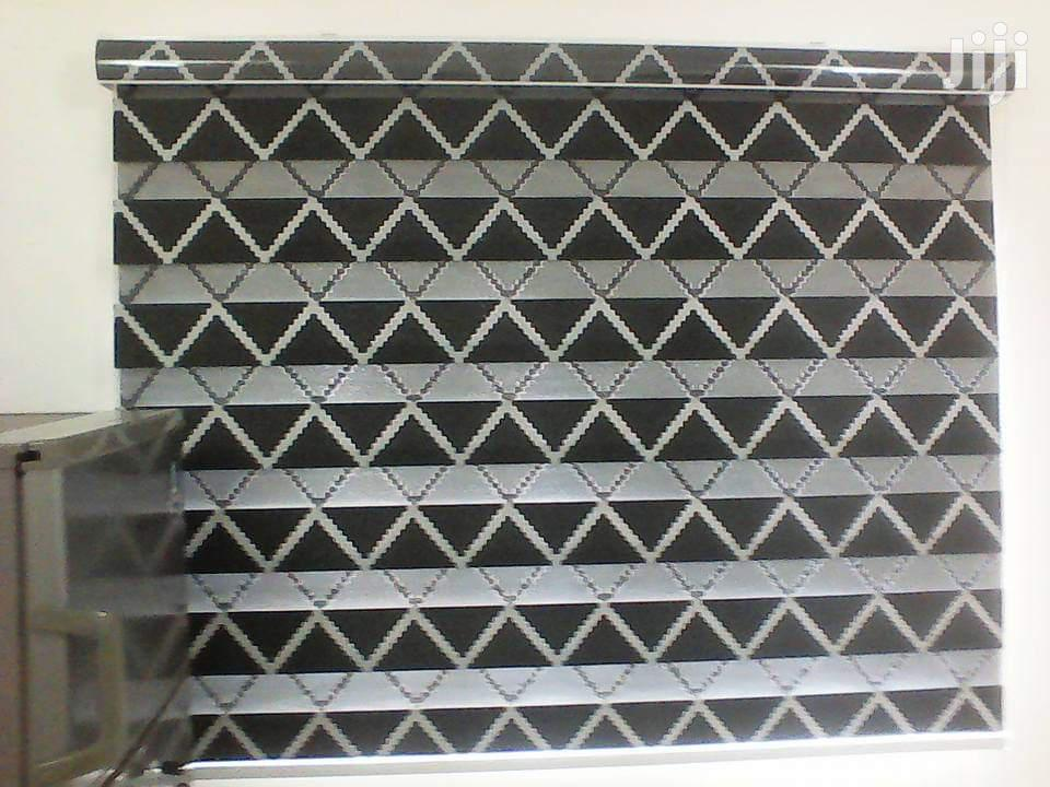 Black And White Line Zebra Blinds Curtains For Homes And Offices