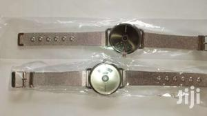 Simple Turntable Couple's Wrist Watch