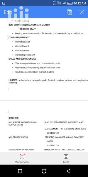 Office CV   Office CVs for sale in Greater Accra, Adenta