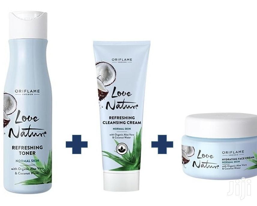 LN Organic Aloe Coco Facial Set | Skin Care for sale in Adenta Municipal, Greater Accra, Ghana