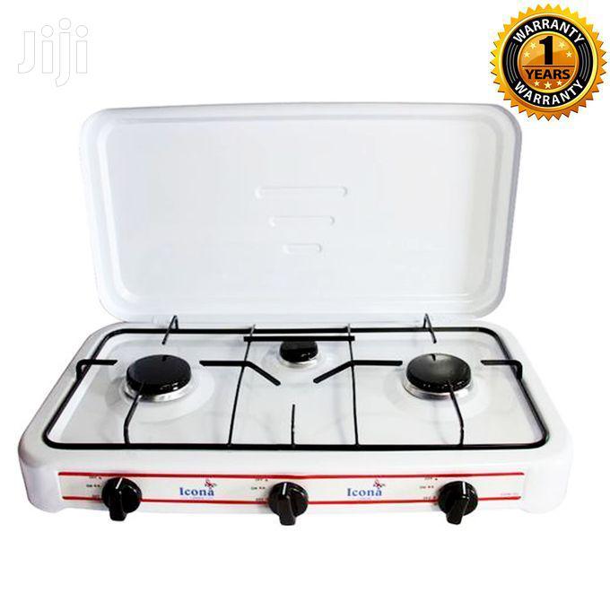 ICONA ILGSM - 301 3 Burner Table Top Gas Stove - White
