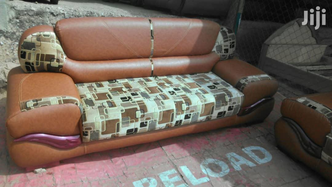 Quality Leather With Heavy Material Sofa Furniture   Furniture for sale in Kumasi Metropolitan, Ashanti, Ghana