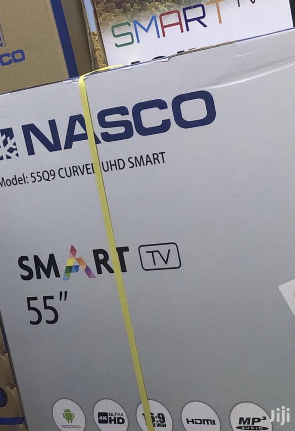 """Nasco 55"""" Uhd Smart 4K Digital Satellite LED TV"""